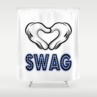 swag Shower Curtains featuring SWAG by Gold Blood