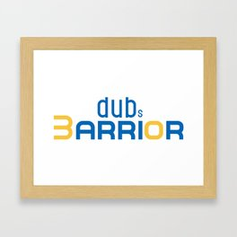Golden State Warrior Curry design  Framed Art Print