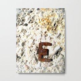 LETRA E Metal Print