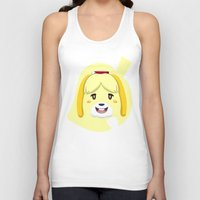 animal crossing Tank Tops featuring Animal Crossing Isabelle by ZiggyPasta