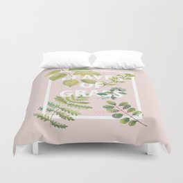 Leaves of Grass, Walt Whitman, book cover illustration, american poetry collection, flowers art Duvet Cover