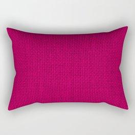 Natural Woven Hot Pink Burlap Sack Cloth Rectangular Pillow