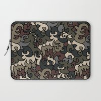military Laptop Sleeves featuring Military pattern by Julia Badeeva