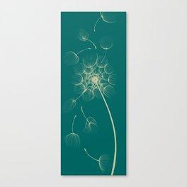 Dandelion of Teal Canvas Print