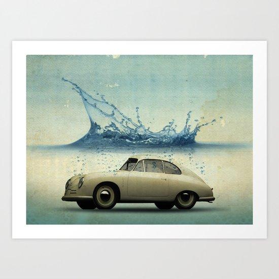 deep water porsche Art Print