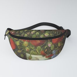 Vase with Poppies by Vincent van Gogh - Vintage Painting Fanny Pack