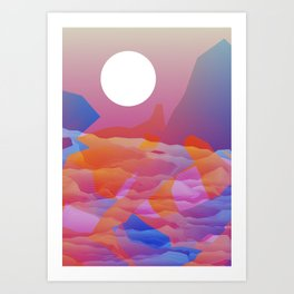 Magic Sunset at D Point Art Print