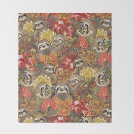 Because Sloths Autumn Throw Blanket