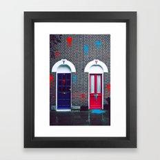 Red vs Blue 01 Framed Art Print
