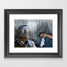 The Old Woman & the Cold Factory Framed Art Print
