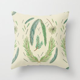 Pine Bough Study Throw Pillow