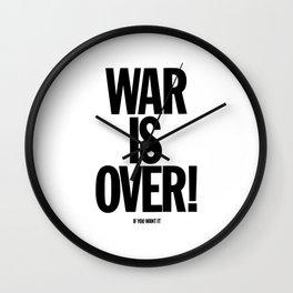 War Is Over - If You Want It -  John Lenon & Yoko Ono Poster Wall Clock