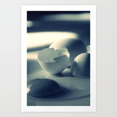 BROKEN EGGS - CROSS/PROCESS Art Print