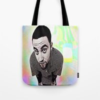 mac Tote Bags featuring Mac Miller by Enna