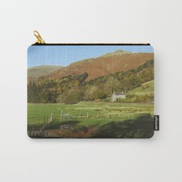 Cottage and flooded field. Grasmere, Lake District, UK. Carry-All Pouch