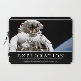 Exploration: Inspirational Quote and Motivational Poster Laptop Sleeve