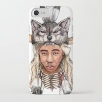 tyler the creator iPhone & iPod Cases featuring WOLF / Tyler, The Creator by Daniel Cash