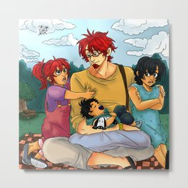 Family Outing Metal Print