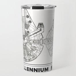 Millennium Falcon Blueprint Travel Mug