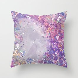 Mysterious Moon Reverie Throw Pillow