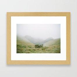 mt tam in the fog Framed Art Print
