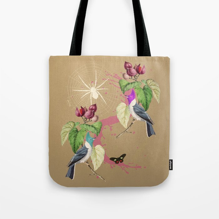 032c4509f0 Exotic Gold Glitter Birds Tote Bag by blackjungle