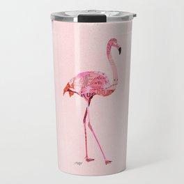 Flamingo Collage Travel Mug
