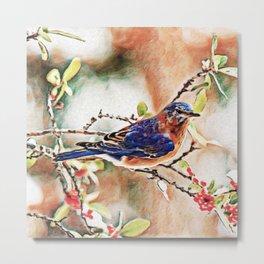 Eastern Bluebird Dream | Painting Metal Print