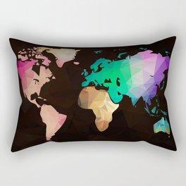 World map background in polygonal style. Modern elements world map Rectangular Pillow