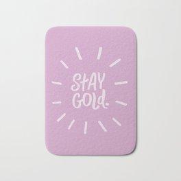 Stay Gold Bath Mat