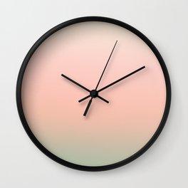 Pink rose - gradient Wall Clock