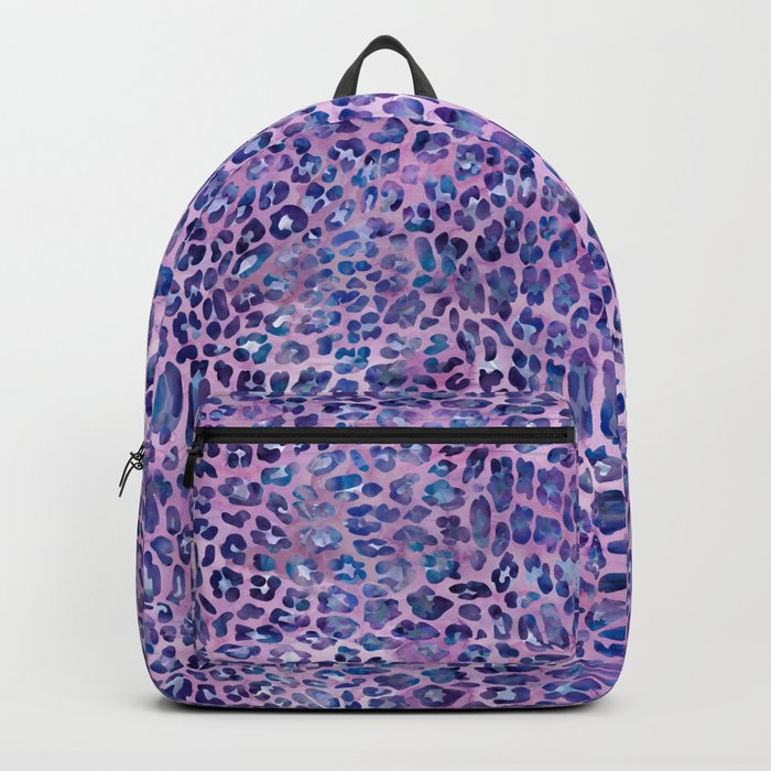 Purple Leopard Print Backpack