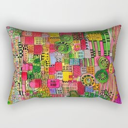 Color Town Rectangular Pillow