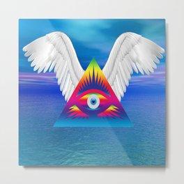 Third Eye with Wings Metal Print