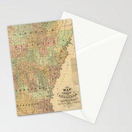 Vintage Map of Arkansas (1839) Stationery Cards