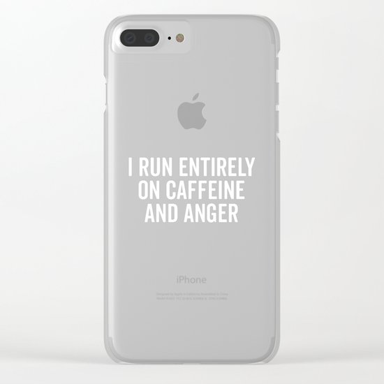 Caffeine And Anger Funny Quote Clear iPhone Case