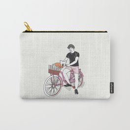 Boy in his Bike Carry-All Pouch