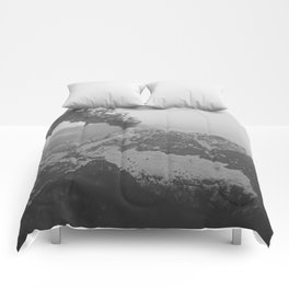 Volcano black and white Comforters