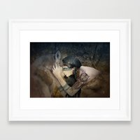 totem Framed Art Prints featuring Totem by Marine Loup