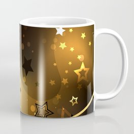 Abstract Background with Golden Stars Coffee Mug