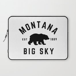 Montana Grizzly Bear Big Sky Country Established 1889 Vintage Laptop Sleeve