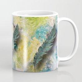 CRAYON LOVE: Aqua Feather Coffee Mug