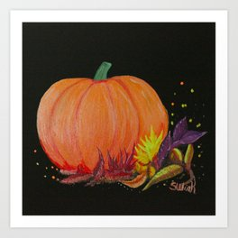 Autumn Pumpkin Art Print