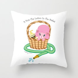 It puts the lotion in the basket. // Silence of the Lambs Throw Pillow