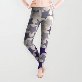Blue Purple Stars Leggings