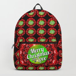 Merry Christmas with Love Backpack