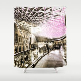 Futuristic London Art Shower Curtain