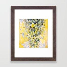 Yellow Flower Storm Framed Art Print
