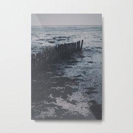 Seaweed and salt   Waddenzee sea photo print. The Netherlands Metal Print