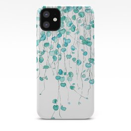 string of hearts watercolor iPhone Case